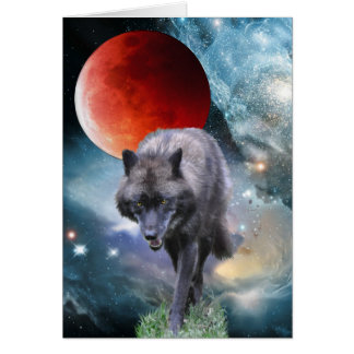 WILDERNESS WOLF Poem on a Greeting Card
