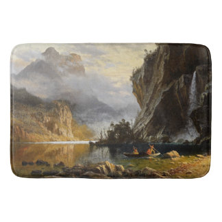Wilderness Yosemite Indians Canoe Lake Bath Mat