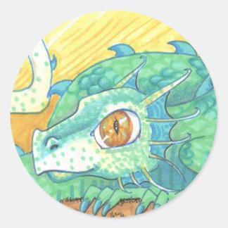 Wildfire Green Dragon big eye Cartoon Art Stickers