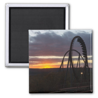 Wildfire Sunset Square Magnet