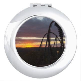 Wildfire Sunset Travel Mirrors