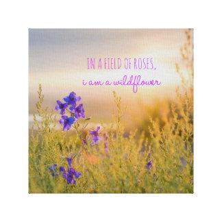"Wildflower 12"" x 12"", 1.5"", Single Canvas Print"