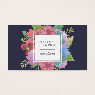 Wildflower Bouquet Double Sided Business Card