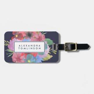 Wildflower Bouquet Personalized Luggage Tag