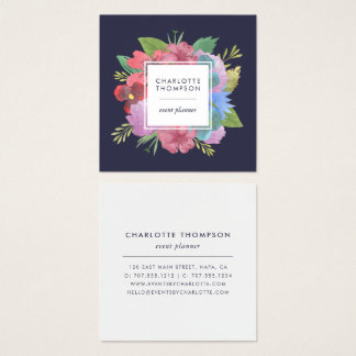 Wildflower Bouquet Square Square Business Card