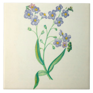 Wildflower Ceramic Kitchen Tile Forget Me Not