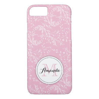 Wildflower damask floral pink iphone case