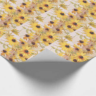 Wildflower Floral Coneflower Flower Wrapping Paper