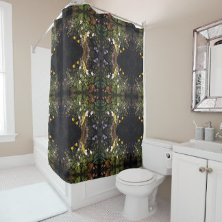 Wildflower Flowers Floral Painting Shower Curtain