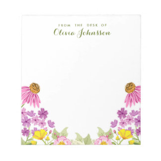 Wildflower from the desk of Floral Notepad Spring