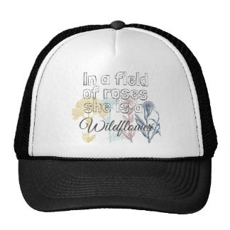 Wildflower Girly Trucker Hat