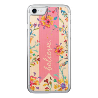 Wildflower Inspiration Pink Carved iPhone 8/7 Case