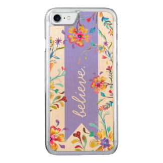Wildflower Inspiration Purple Carved iPhone 8/7 Case