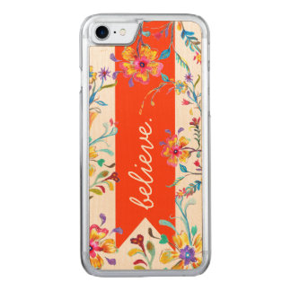 Wildflower Inspiration Red Carved iPhone 8/7 Case