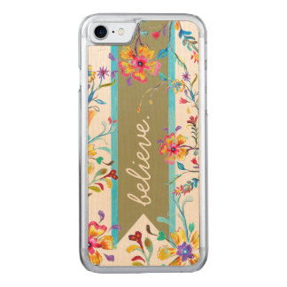 Wildflower Inspiration Spring Green Carved iPhone 8/7 Case