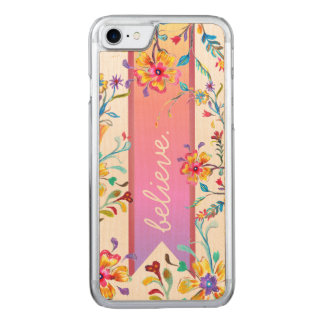 Wildflower Inspiration Summer Pastels Carved iPhone 8/7 Case