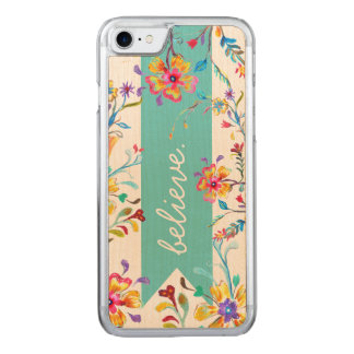 Wildflower Inspiration Turquoise Carved iPhone 8/7 Case