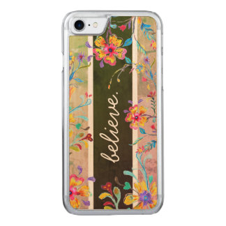 Wildflower Inspiration Watercolor Carved iPhone 8/7 Case