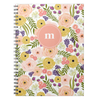 Wildflower Monogram Notebook