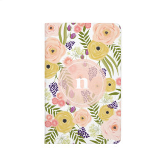 Wildflower Monogram Pocket Notebook