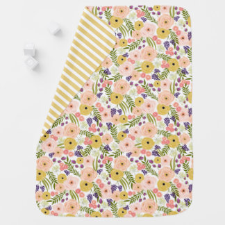 Wildflower Personalized Baby Blanket