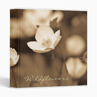 "Wildflower Photography in Sepia Tones - 1"" Binder"