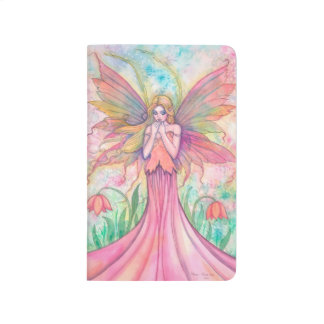 Wildflower Pink Fairy Fantasy Art Journal