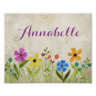 Wildflower Room Decor Wall Art