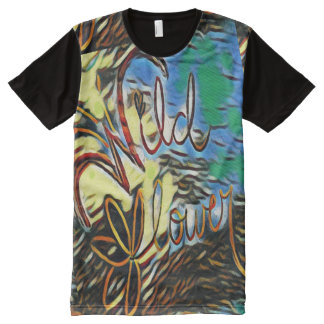 """""""Wildflower"""" Typography Art All Over Print T Shirt"""