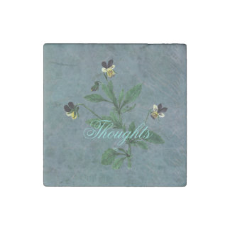 Wildflower Viola Thoughts Stone Magnets