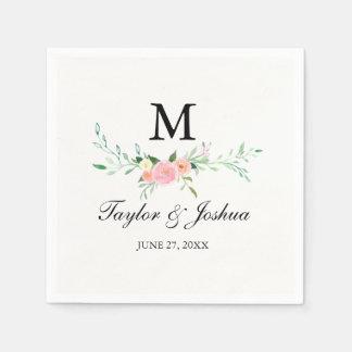 Wildflower Watercolor Wedding Napkin Disposable Napkin