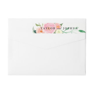 Wildflower Watercolor Wrap Around Label