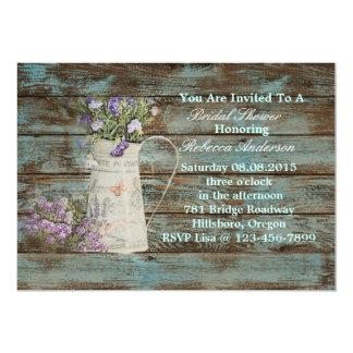 wildflower western country rustic bridal shower card