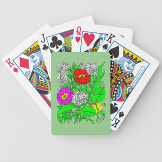 Wildflowers 2 bicycle playing cards