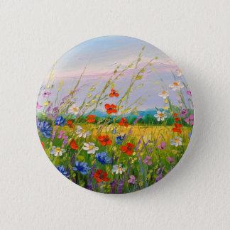 Wildflowers 2 Inch Round Button