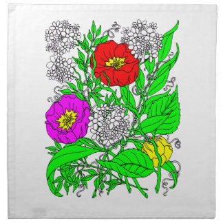Wildflowers 2 napkin