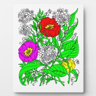 Wildflowers 2 plaque