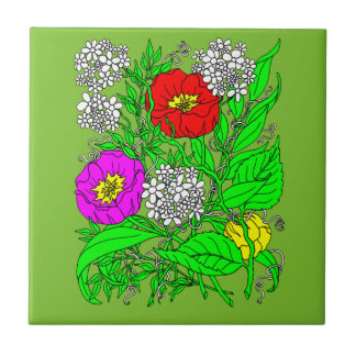 Wildflowers 2 tile