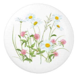 Wildflowers 3 ceramic knob