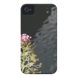 Wildflowers against the water surface of a river iPhone 4 case