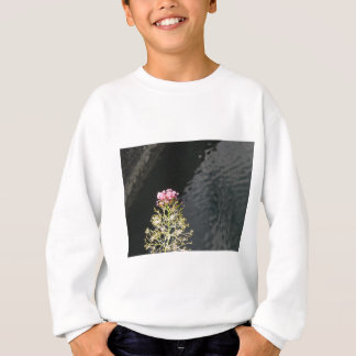 Wildflowers against the water surface of a river sweatshirt