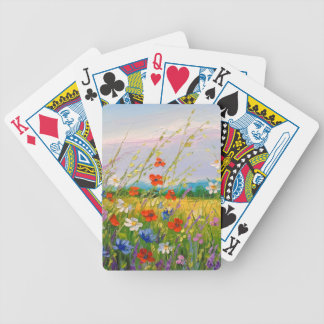Wildflowers Bicycle Playing Cards