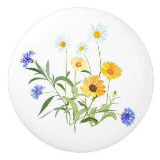 Wildflowers Ceramic Knob