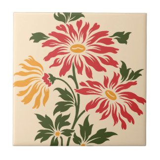 Wildflowers Ceramic Tile