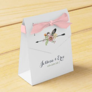 Wildflowers Feathers and Arrow Favor Box