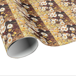 Wildflowers Floral Daisy Flowers Wrapping Paper