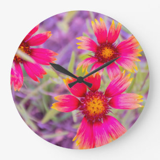 Wildflowers From the Garden in My Mind Large Clock