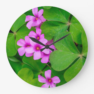 Wildflowers in Central Texas Hill Country Large Clock