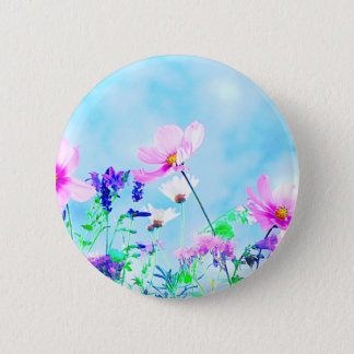 Wildflowers In Nature 2 Inch Round Button
