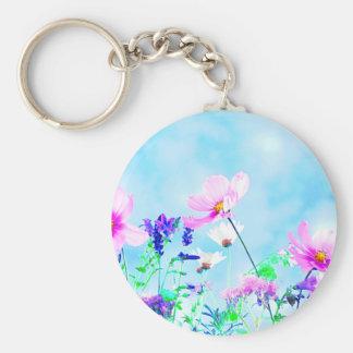 Wildflowers In Nature Keychain